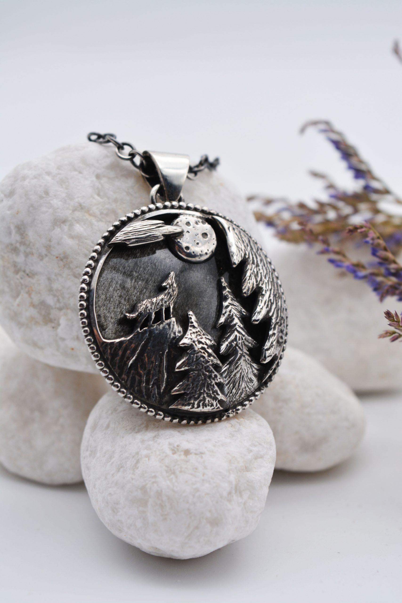 Alysse bijoux pendentif Pleine lune
